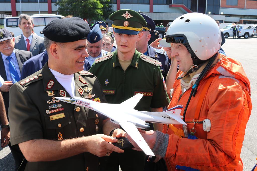 Торжественная встреча ракетоносцев Ту-160 ВКС России в Венесуэле