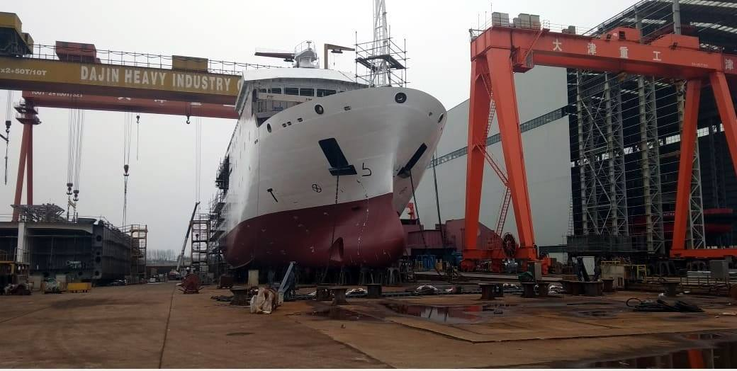 В Китае спущено на воду гидрографическое судно для ВМС Пакистана