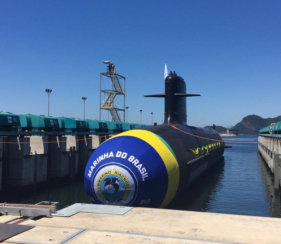 Спущена на воду головная бразильская подводная лодка проекта Scorpene