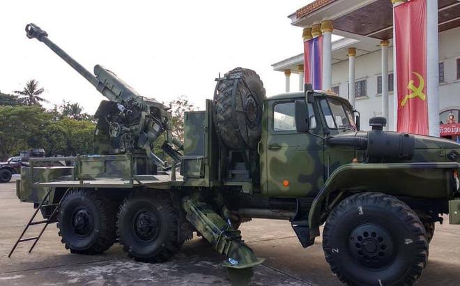 Лаосская 122-мм самоходная гаубица