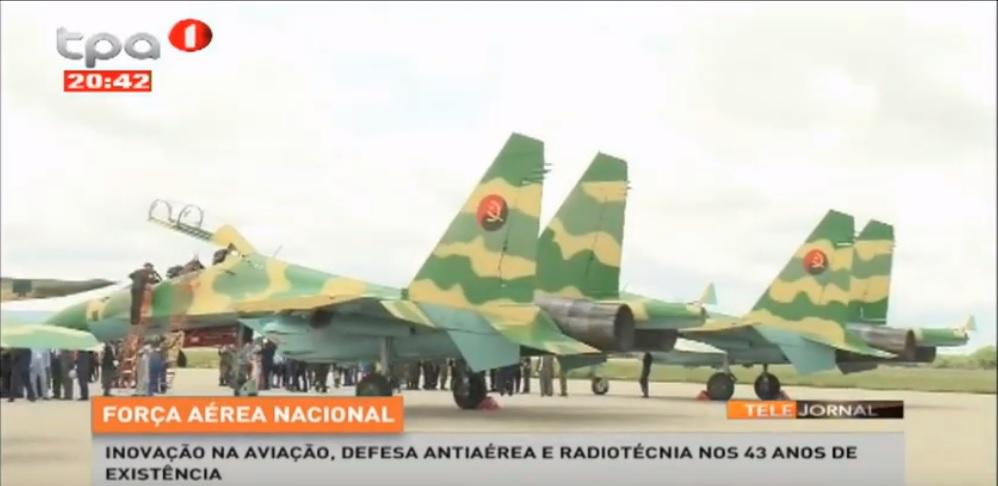 Истребители Су-30К ВВС Анголы
