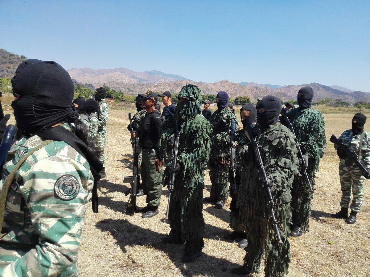Подготовка бойцов венесуэльской Боливарианской народной милиции к отражению американской агрессии