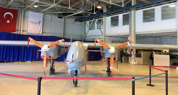 Первый опытный образец турецкого беспилотного летательного аппарата YFYK