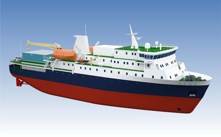 Начато строительство грузопассажирских судов для Курильских островов