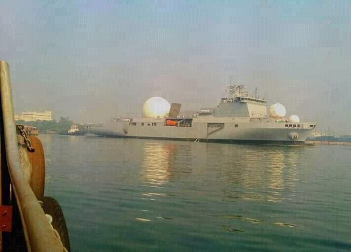 Первые фотографии индийского корабля измерительного комплекса VC-11184
