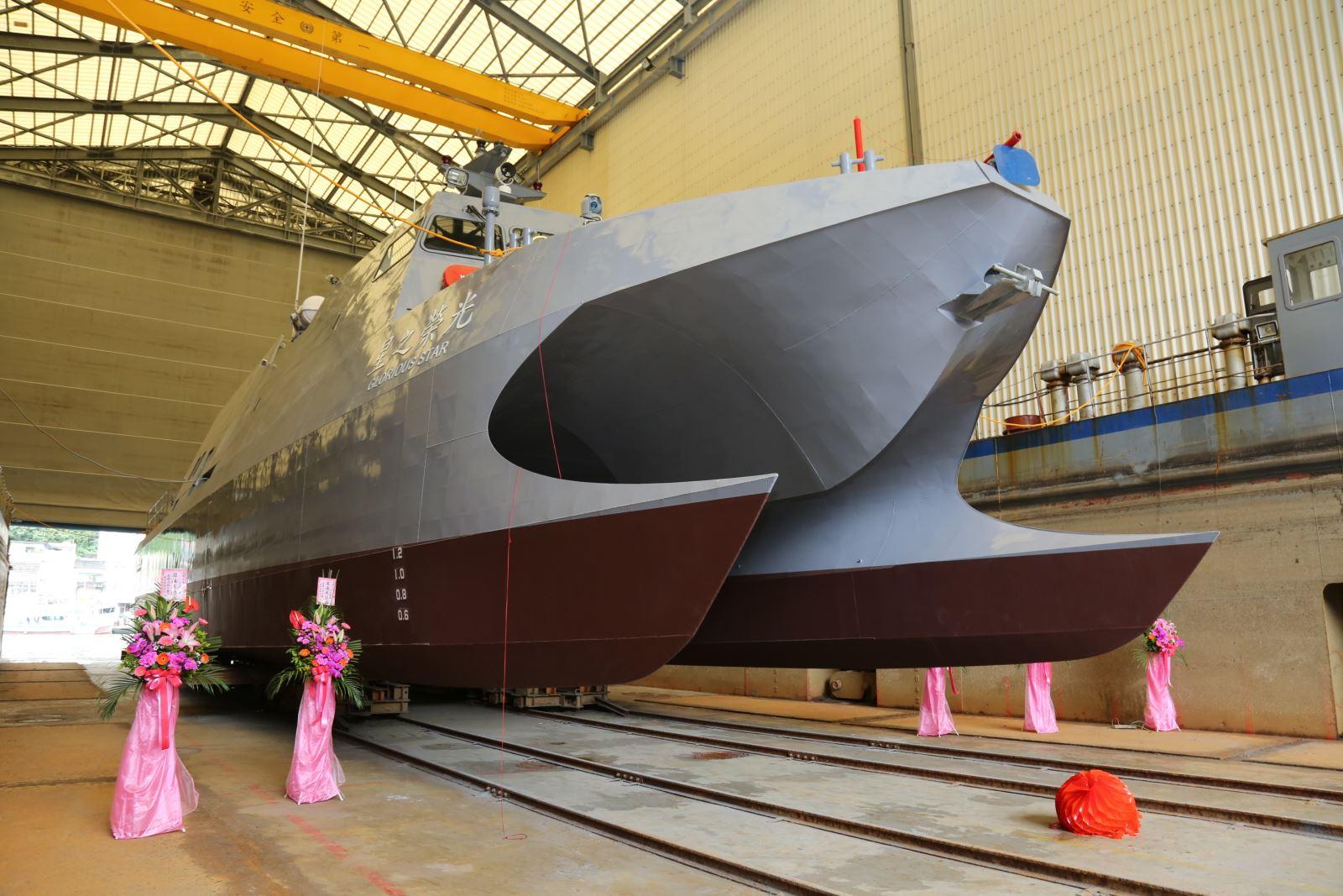 На Тайване построен катамаран-платформа для испытания перспективных систем ракетного вооружения
