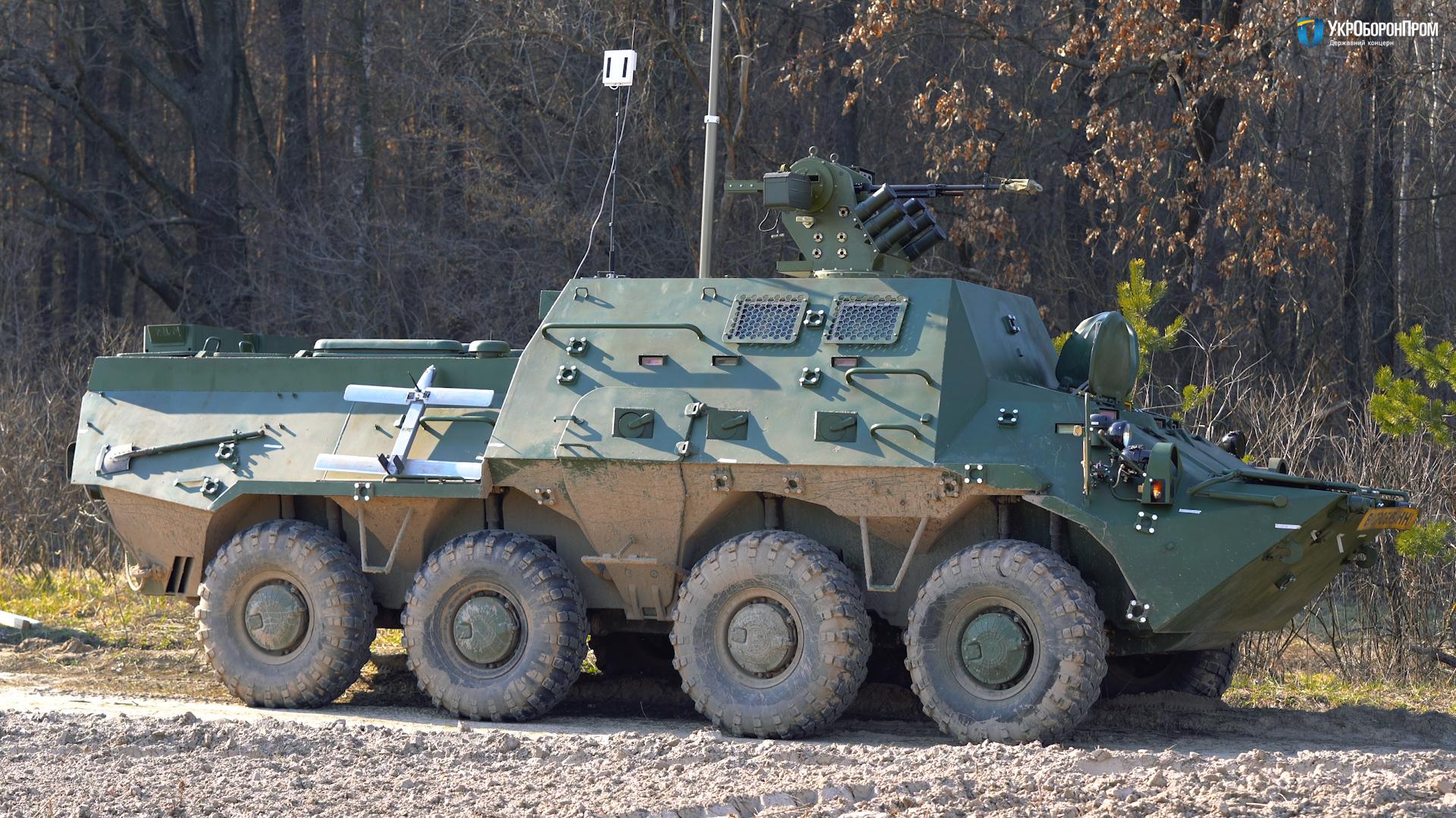 Украинская командно-штабная машина БТР-3КШ на базе БТР-3
