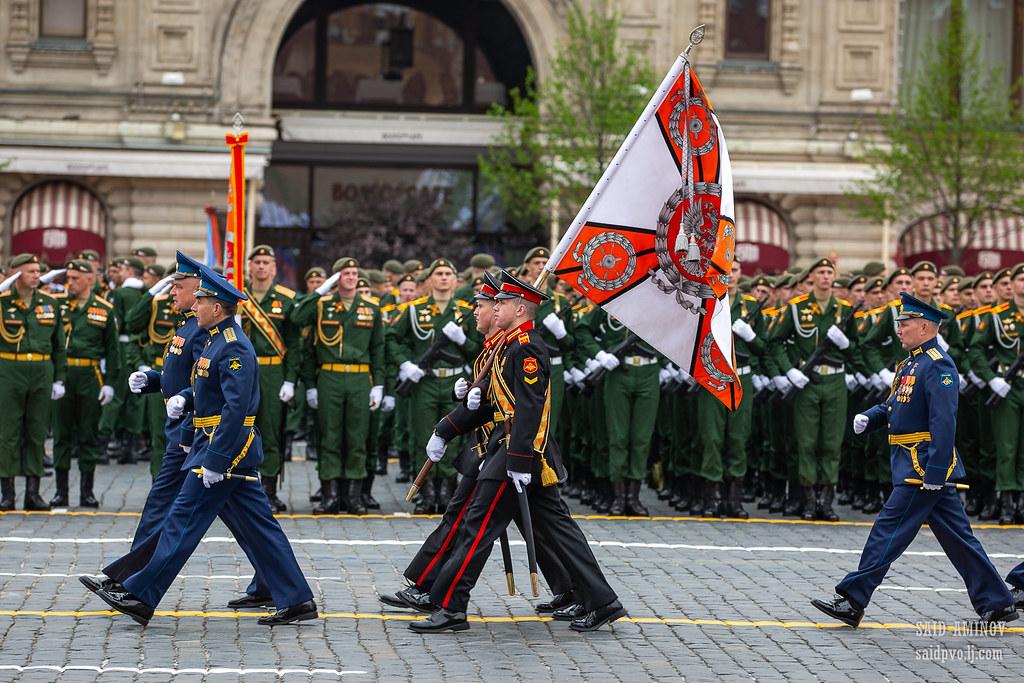 Парад Победы 9 мая 2019 года на Красной площади в Москве. Войска