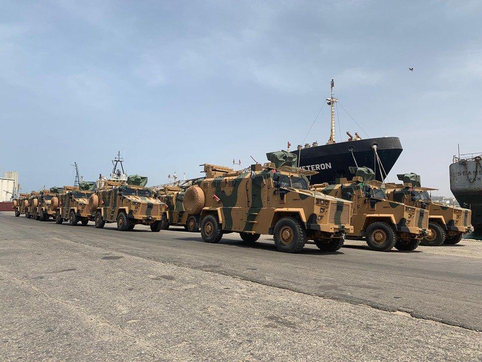 Турецкие бронированные машины Kirpi II в Ливии