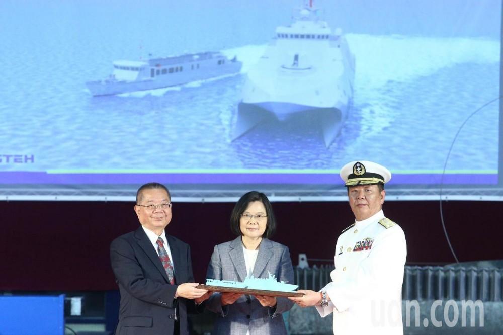 На Тайване прошла церемония закладки трех корветов-катамаранов улучшенного проекта