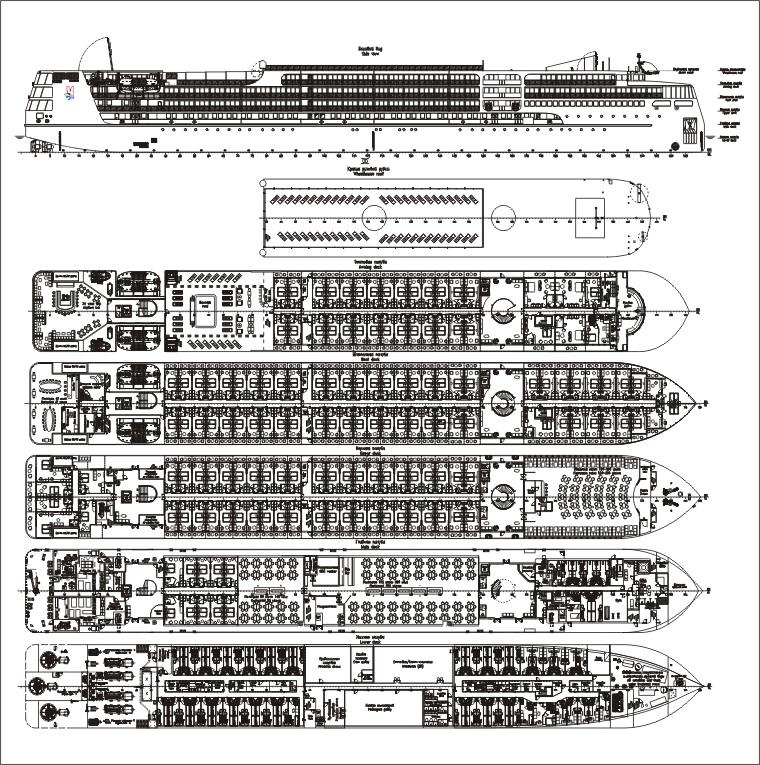 Спущен на воду круизный пассажирский лайнер «Пётр Великий» проекта PV300VD PVD