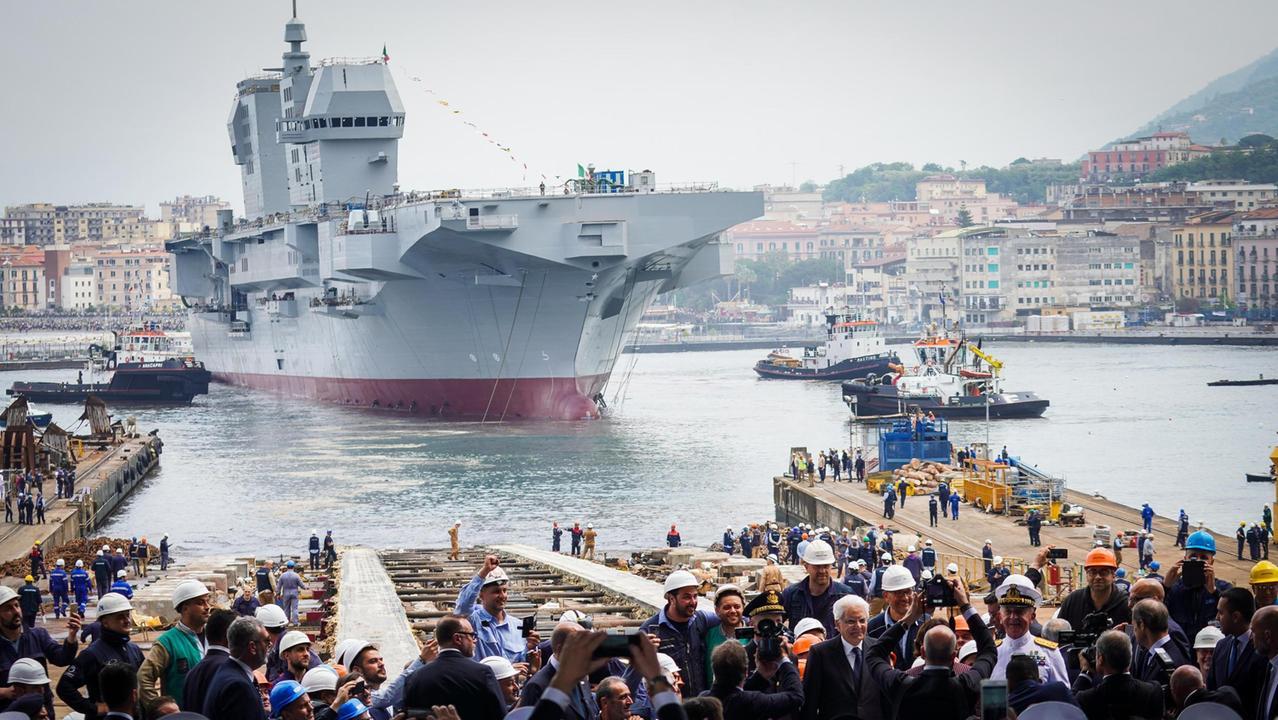 Спущен на воду итальянский универсальный десантный корабль Trieste