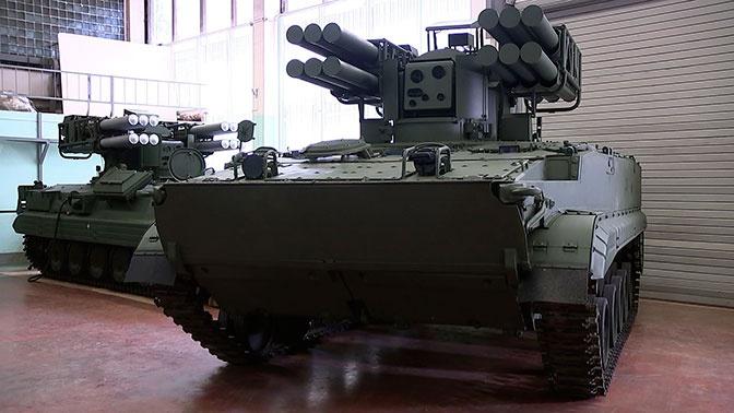 """Зенитный ракетный комплекс """"Сосна"""" в серийном исполнении на шасси БМП-3"""