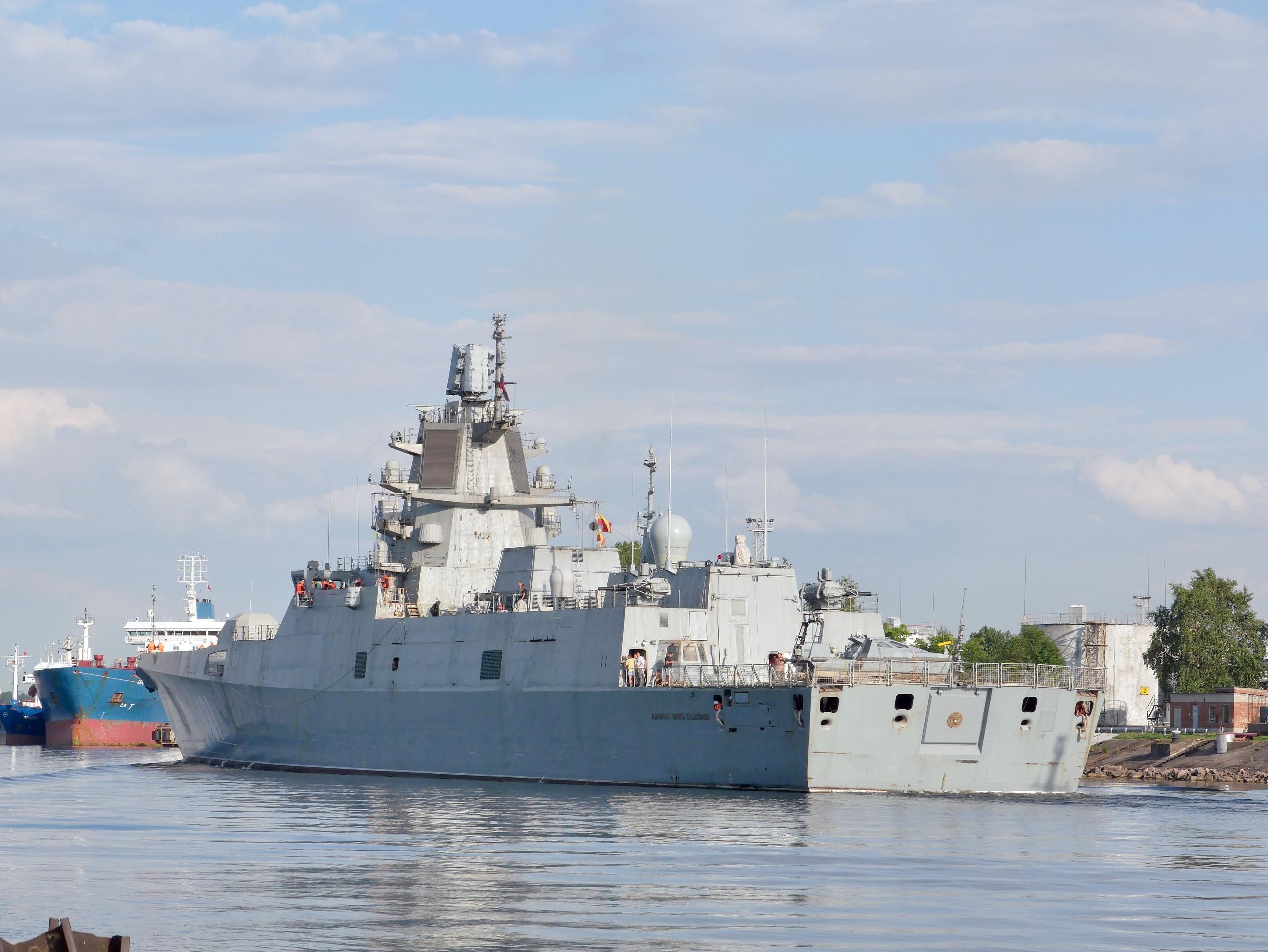 Испытания противоминного комплекса «Диаманд» на фрегате «Адмирал флота Касатонов»