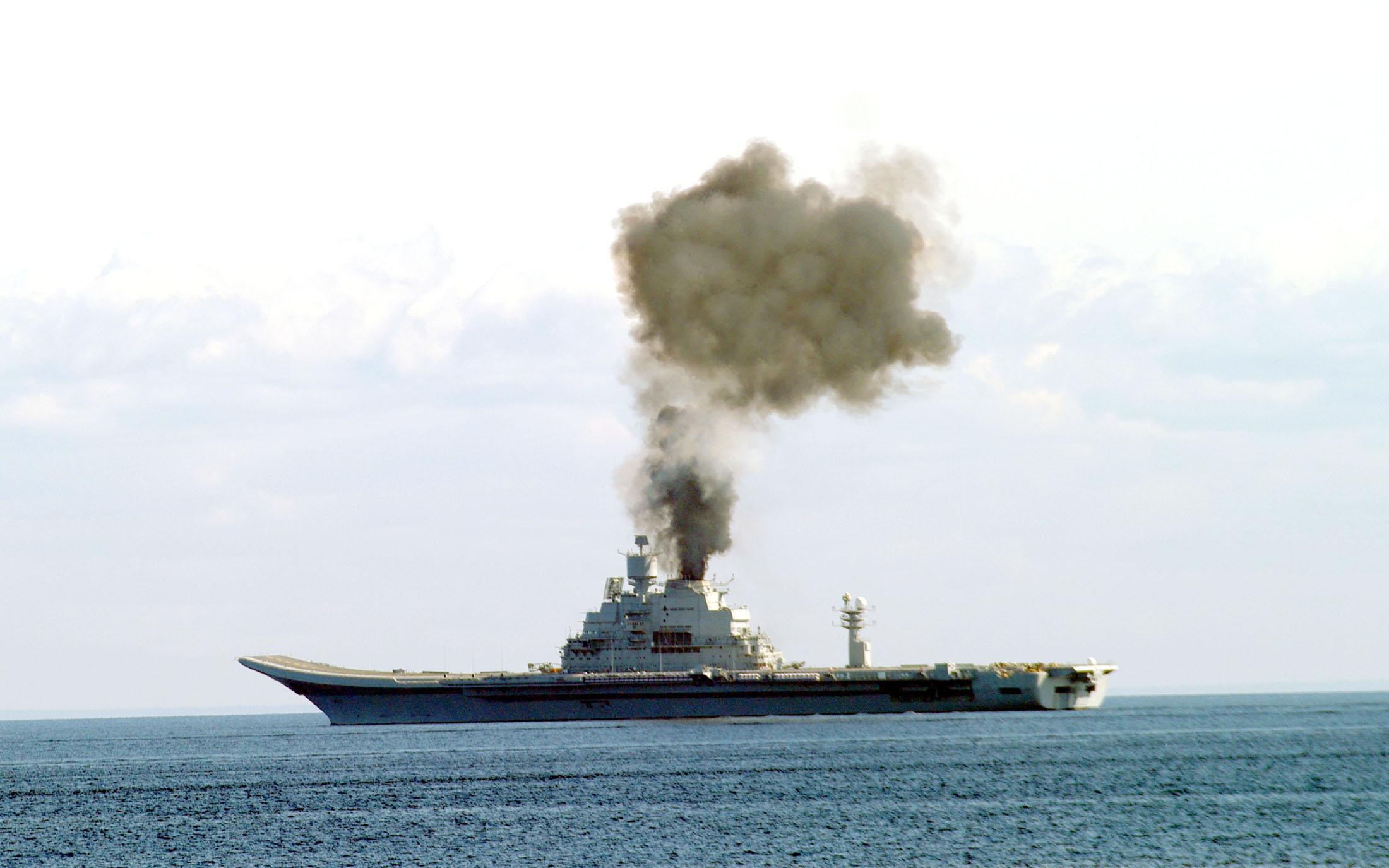 """Индийская газета """"The Hindu"""" в статье Vinay Kumar """"INS Vikramaditya sea trials successful"""" в номере от 29 июл успешно завершил этап заводских ходовых испытаний, развив при этом максимальную скорость 32 узла."""