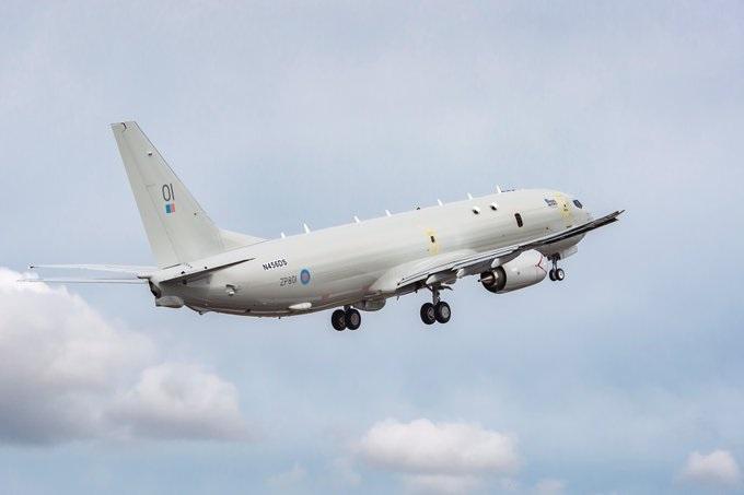 Первый базовый патрульный самолет Р-8А Poseidon для Великобритании самолетов, Великобритании, Poseidon, ZP801, Boeing, времени, британский, военный, номер, также, N456DS, Pride, патрульных, базовых, девяти, авиации, поставкой, настоящему, Moray, Королевских