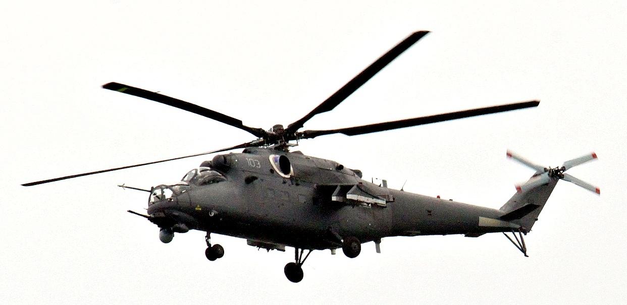 Первый вертолет Ми-35М для Узбекистана