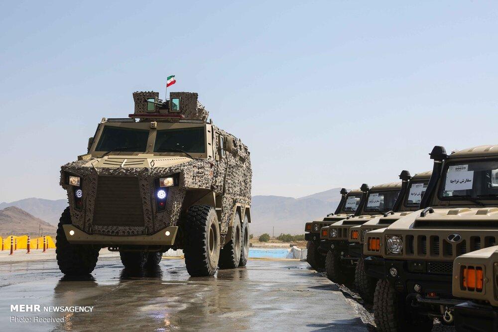 Новые иранские армейский внедорожник Aras 2 и бронированная машина Raad класса MRAP