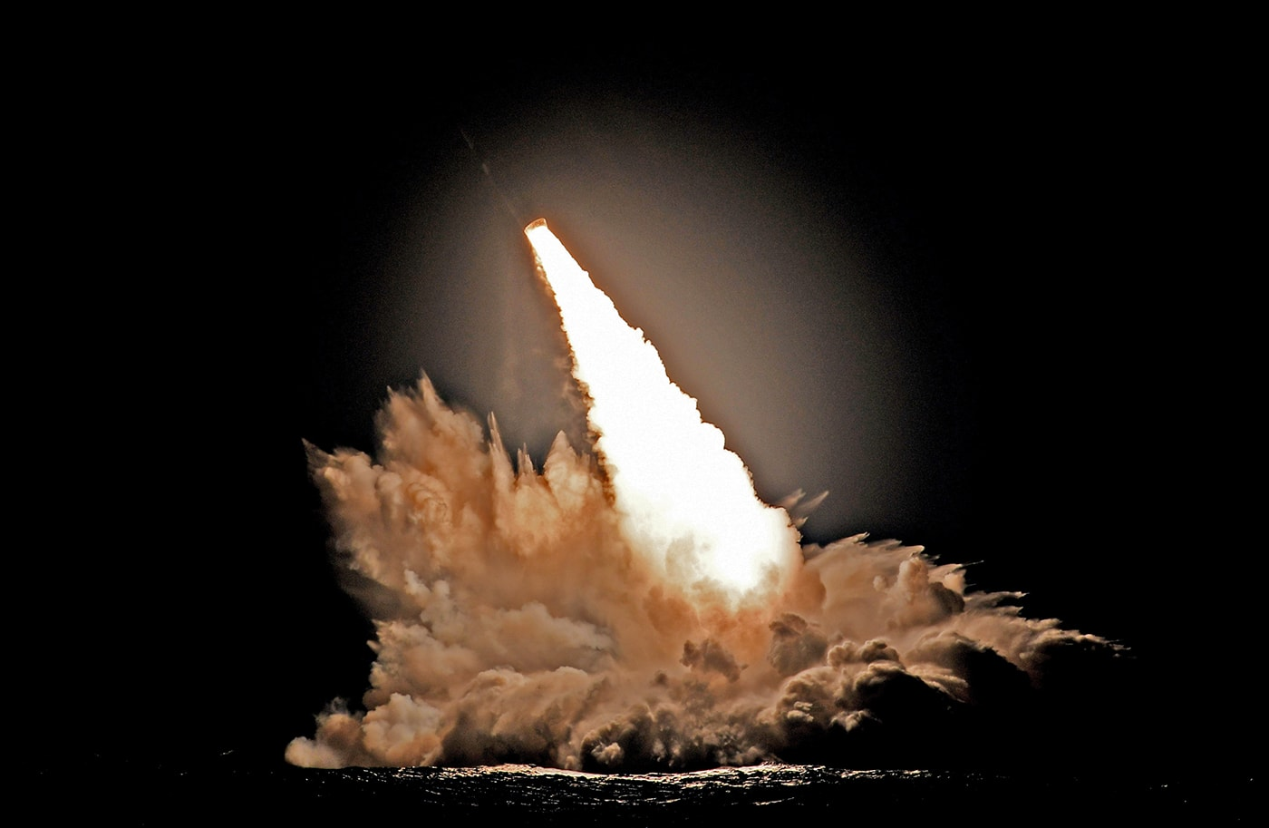 Пуски четырех баллистических ракет Trident II