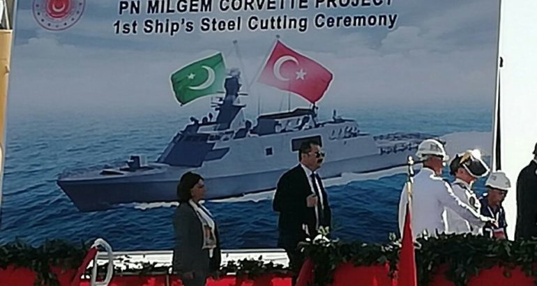 First-Steel-Cut-For-Pakistan-Navy-Milgem-Project-Ship-770x410