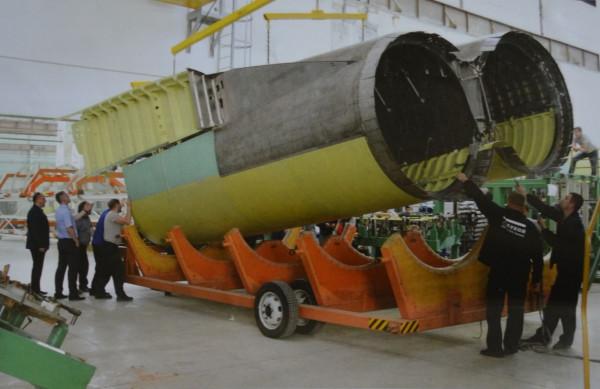 Первый мотоотсек для стратегических бомбардировщиков Ту-160М2 новой постройки