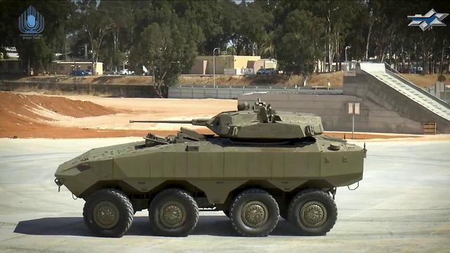 Боевой модуль с пушечным вооружением для новых израильских бронетранспортеров