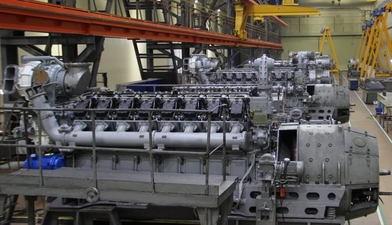 Участок сборки дизельных двигателей