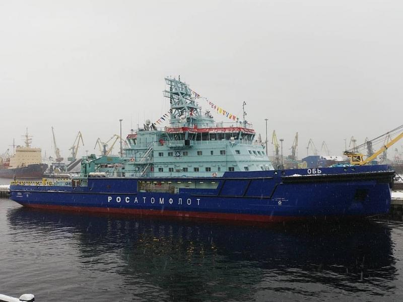 Введен в строй дизель-электрический ледокол «Обь»