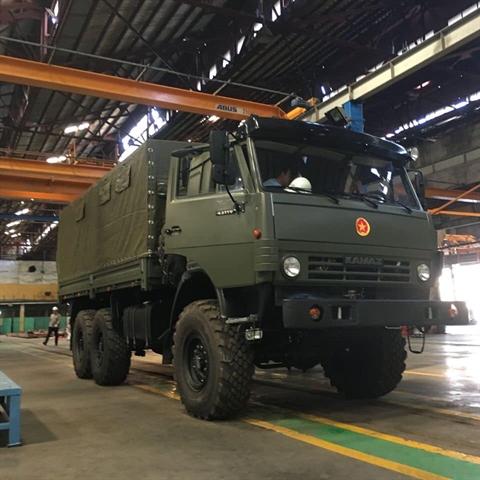 Новые поставки военных грузовых автомобилей КамАЗ во Вьетнам