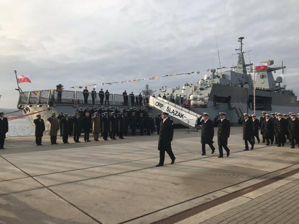 Патрульный корвет Ślązak введен в строй польского флота