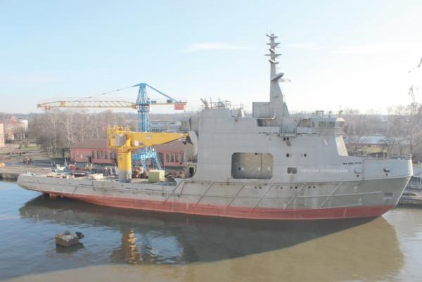 Возобновлено строительство исследовательского судна «Евгений Горигледжан»