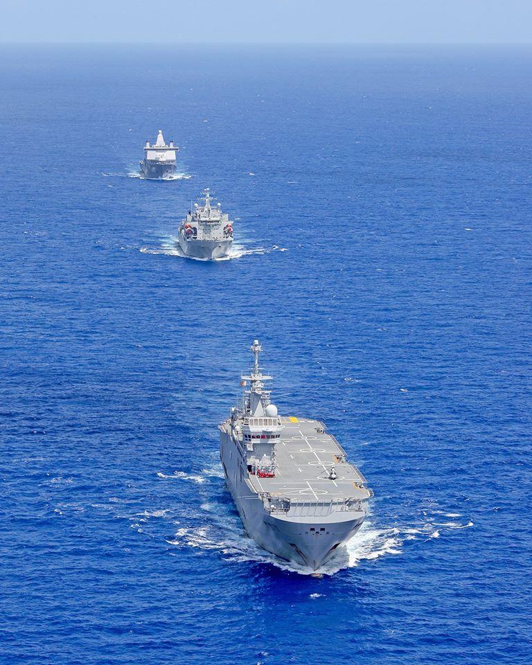 Европейские десантные корабли в едином строю 96765145_3049792625066442_1395391752998748160_o