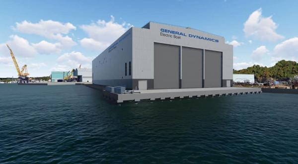Новый судостроительный комплекс в Гротоне для строительства атомных подводных лодок типа Columbia