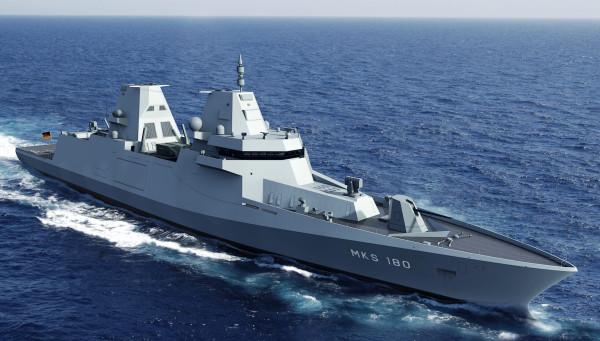 Подписан контракт на постройку для германского флота новых фрегатов проекта MKS 180