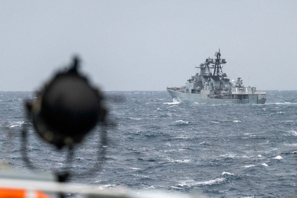 Vice-Admiral Kulakov as seen from HMS Northumberland