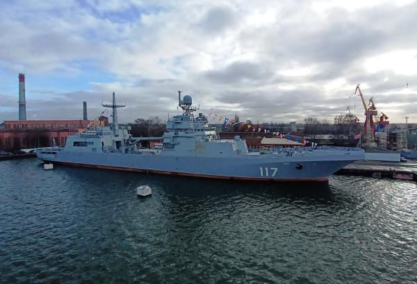 Большой десантный корабль «Пётр Моргунов» введён в состав ВМФ России