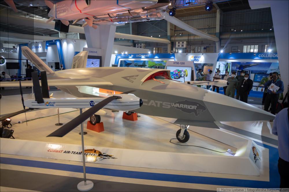 Перспективный индийский беспилотный летательный аппарат Warrior 6Y9A3988