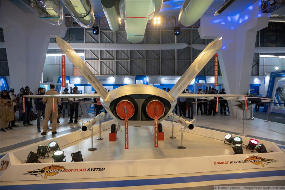Перспективный индийский беспилотный летательный аппарат Warrior 6Y9A4007