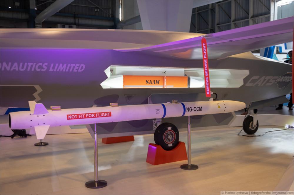 Перспективный индийский беспилотный летательный аппарат Warrior 6Y9A4011