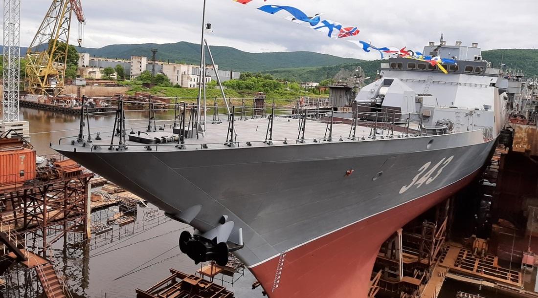 Корвет «Резкий» выведен из эллинга Амурского судостроительного завода 343