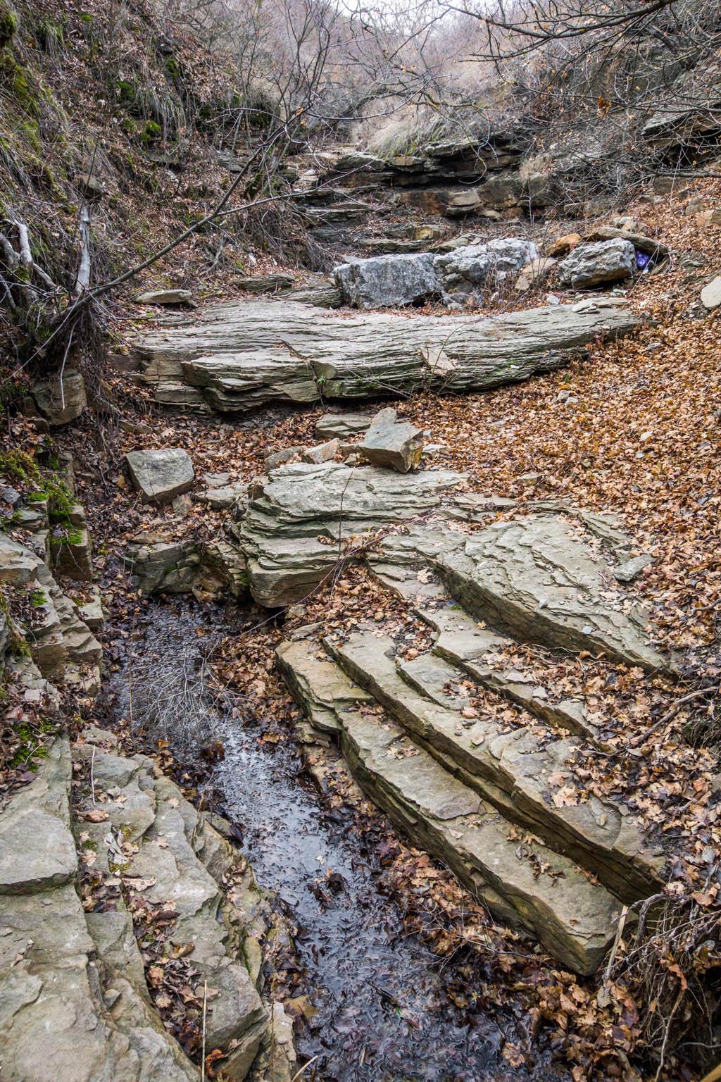 Пласты песчаников каменноугольного возраста