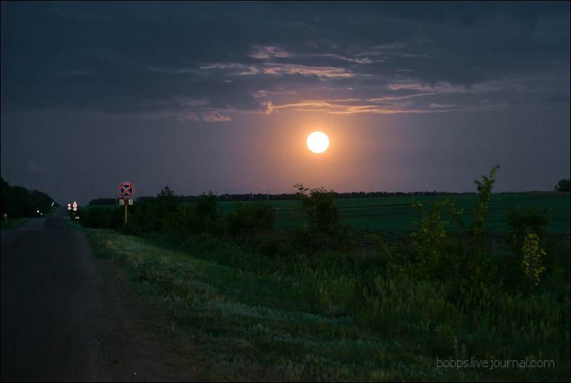 Ночью в степи