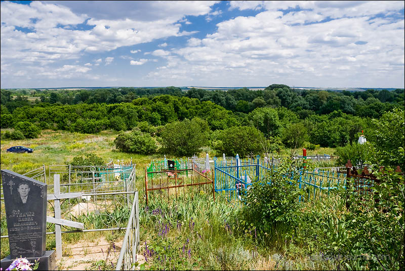 Вид с погоста на хутор Дубовой