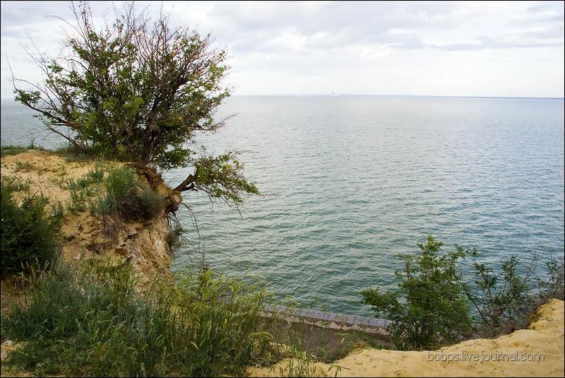 Вид на Цимлянское водохранилище