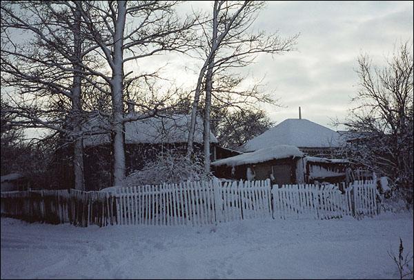 Зима в станице Елизаветинской