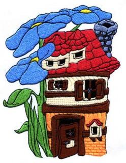 Рисуем дом и природу вокруг