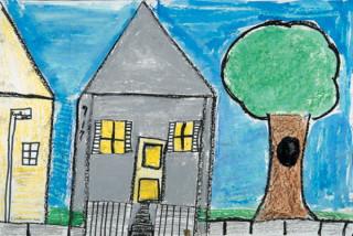 Как нарисовать Угловой дом?
