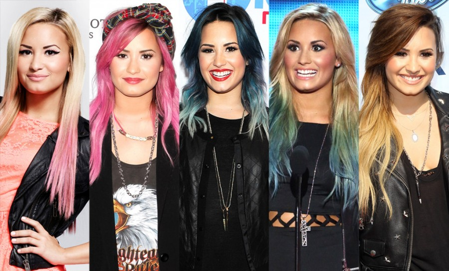 Demi Lovato Releases Colorful Hair Extension Line Check Out Secret