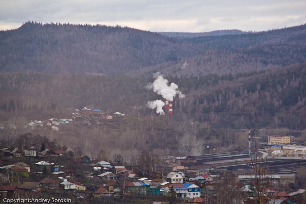 Вид в сторону металлургического завода