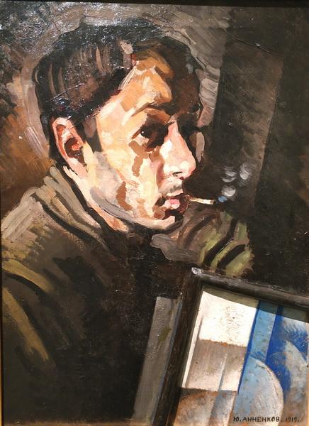 Ю.Анненков. Автопортрет. 1919. Холст, масло. Собрание В. Дудакова и М. Кашуро.